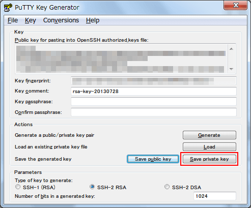 how to create a ppk private key putty