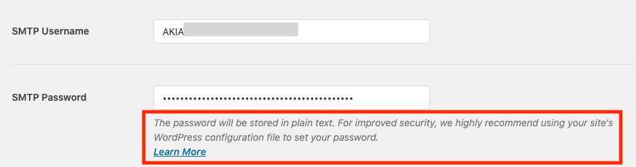 WP Mail SMTP 平文パスワード